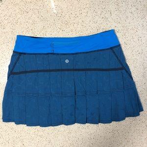 Lululemon Pace Setter Skirt (Tall) Cornflower 8T
